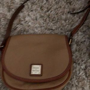 Dooney & Bourke taupe leather crossbody bag